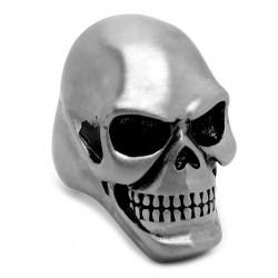 BA0237 BOBIJOO Jewelry Jumbo Signet Ring Skull Death's Head 316L Steel Matte