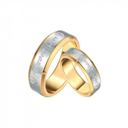 AL0024 BOBIJOO Jewelry Alliance Bague Forever Love Homme Femme Doré à l'Or Fin
