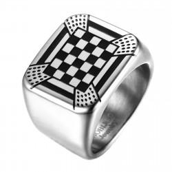 BA0248 BOBIJOO Jewelry Ring Signet Ring Pad Mosaic Ornament Rite French