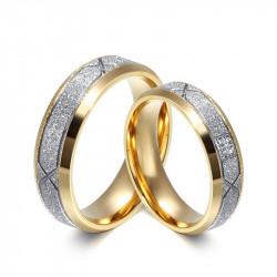 AL0025 BOBIJOO Jewelry Alliance Man Woman Ring, Bright Silver, Gold