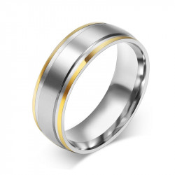 AL0027 BOBIJOO Jewelry Alliance Mixte Acier Inoxydable Bords Doré à l'Or Fin
