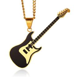 PE0150 BOBIJOO Jewelry Pendant Electric Guitar Rock Steel Black Gold Blue Red
