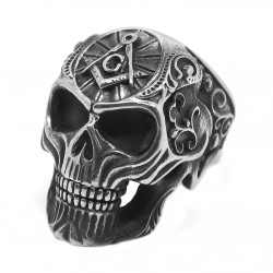 BA0273 BOBIJOO Jewelry Ring Ring Skull skull Freemasonry