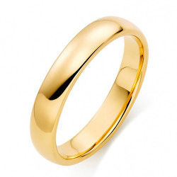 AL0060 BOBIJOO Jewelry Ring Alliance Joint Gold-Plated Stainless Steel 4mm