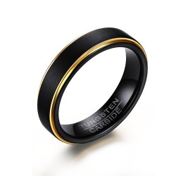 BA0302 BOBIJOO Jewelry Ring Alliance 5mm Black Tungsten Gold