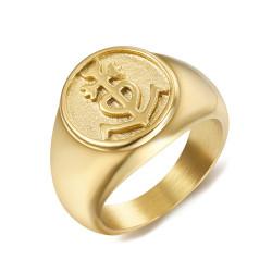 BA0303 BOBIJOO Jewelry Ring Signet ring Man Woman Cross of Camargue Gold
