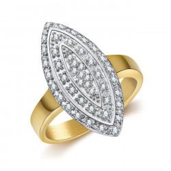 BAF0041 BOBIJOO Jewelry Anello Marchesa Placcato Dorato Oro Acciaio Zirconio