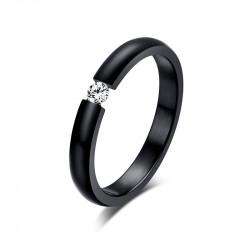 SOL0003 BOBIJOO Jewelry Ring Solitaire Silver Zirconia 6mm 6 claws