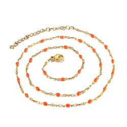 COF0033 BOBIJOO Jewelry Collar Minimalist Steel Gold Email Color Choice 43cm