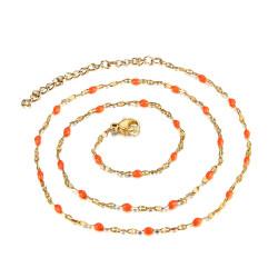 COF0034 BOBIJOO Jewelry Collar Minimalist Steel Gold Email Color Choice 48cm
