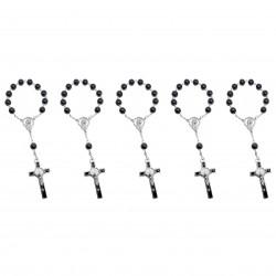 CP0047 BOBIJOO Jewelry Lot x5 Mini Rosary St Benedict Hematite Child Baby