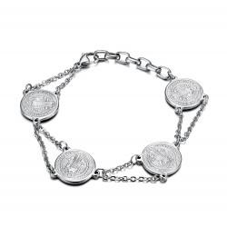 BR0273 BOBIJOO Jewelry Bracelet Steel 316L St. Benedict Protection