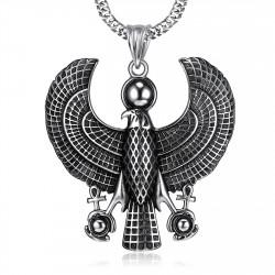 PE0214 BOBIJOO Jewelry Pendant Horus Falcon bird of Prey Deity egypt Steel