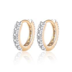 BOE0010 BOBIJOO Jewelry Boucles d'Oreilles Doré à l'Or Fin Enfant Fille Femme Strass
