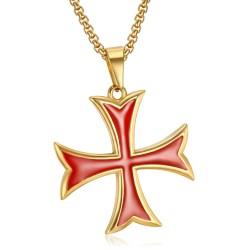 PE0226 BOBIJOO Jewelry Pendant Templar Cross Pattée Tips Cash Gold