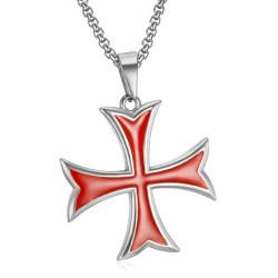 Pendentif Templier Croix Pattée Pointes Rentrées Argent bobijoo