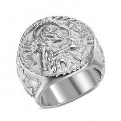 BA0349 BOBIJOO Jewelry Ring Signet ring Man Saint Joseph Steel 316L