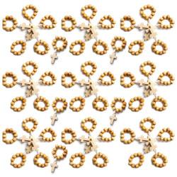 CP0049 BOBIJOO Jewelry Lot x 50 Mini Chapelet Bague en Bois