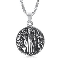 PE0101 BOBIJOO Jewelry Pendant Medallion Sanctus Benedictus Steel
