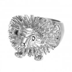 BA0356 BOBIJOO Jewelry Ring Signet Ring Man's Head, Hedgehog Niglo Traveller