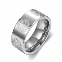 BA0358 BOBIJOO Jewelry Ring Ring Alliance Saint Benedict Protection 8mm