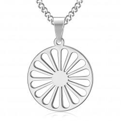 PE0245 BOBIJOO Jewelry Pendant Wheel of the Travelers Flag Gypsies