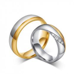 AL0001B BOBIJOO Jewelry Alliance Acier Acier Argenté Or Strass