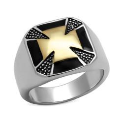 BA0084 BOBIJOO Jewelry Ring Signet ring maltese Cross knights Templar
