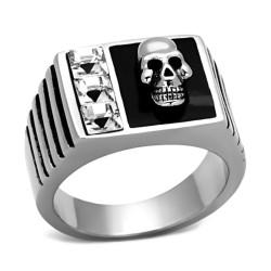 Bague Chevalière Crâne et Diamants bobijoo