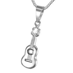 PE0180S BOBIJOO Jewelry Small, Discreet Pendant, Guitar 316L Stainless Steel