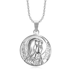 PE0266 BOBIJOO Jewelry Pendant Miraculous mary Immaculate Conception Silver
