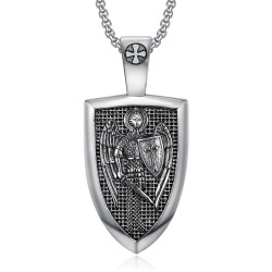 PE0278 BOBIJOO Jewelry Anhänger Reihenfolge Saint Michel Tempelritter Edelstahl 316L