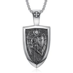 Pendentif Ordre Saint Michel Templier Acier 316L bobijoo