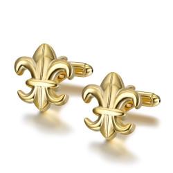 BM0040 BOBIJOO Jewelry Boutons de Manchette Or Fleur de Lys France