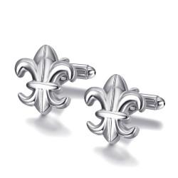 BM0041 BOBIJOO Jewelry Boutons de Manchette Argent Fleur de Lys France