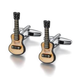 BM0042 BOBIJOO Jewelry Boutons de Manchette Guitare Gipsy Musicien