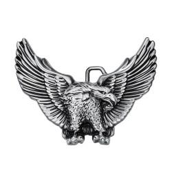 Boucle de Ceinture Aigle USA 3D Argenté bobijoo