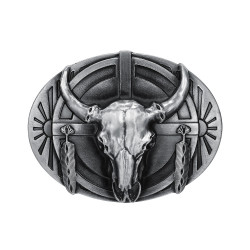 BC0004 BOBIJOO Jewelry Belt buckle Skull Bull USA Indian
