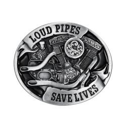 BC0008 BOBIJOO Jewelry Belt buckle Loud Pipes Save Lives