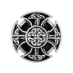BC0019 BOBIJOO Jewelry Belt buckle Celtic Cross Biker Templar