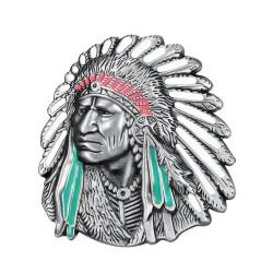 BC0022 BOBIJOO Jewelry Belt loops Bust of Indian Geronimo