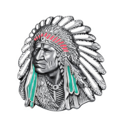 Boucle de Ceinture Buste d'Indien Geronimo bobijoo