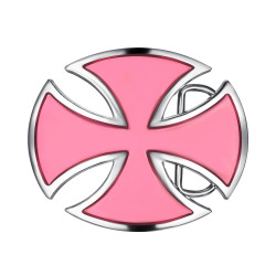 BC0025 BOBIJOO Jewelry Belt buckle Cross Pattée Surrounded Alesée Pink