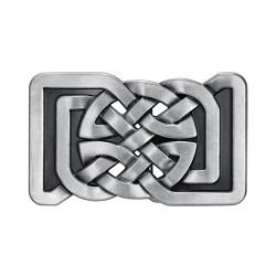 BC0026 BOBIJOO Jewelry Belt buckle Square Knots Celtic Infinity