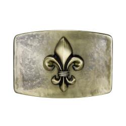 BC0033 BOBIJOO Jewelry Belt buckle Fleur-de-Lis Bronze