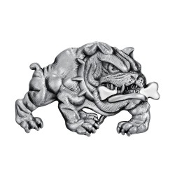BC0034 BOBIJOO Jewelry Belt buckle Bulldog Dog Fierce Biker