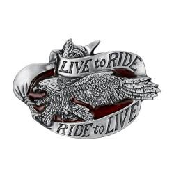 BC0035 BOBIJOO Jewelry Belt buckle Live To Ride Eagle Biker