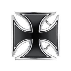 BC0040 BOBIJOO Jewelry Belt buckle Black Cross Templar Biker
