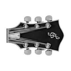 BC0050 BOBIJOO Jewelry Belt buckle Electric Guitar Rock Black