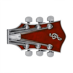 BC0049 BOBIJOO Jewelry Belt buckle Electric Guitar Rock Red